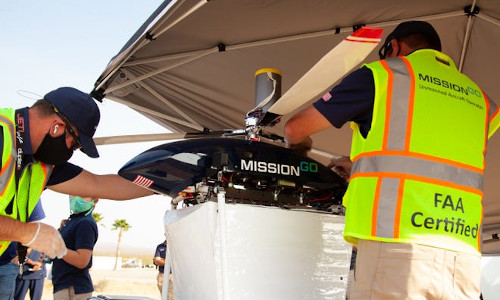 MissionGO conducts test flights of its unmanned aerial system in the Nevada desert.